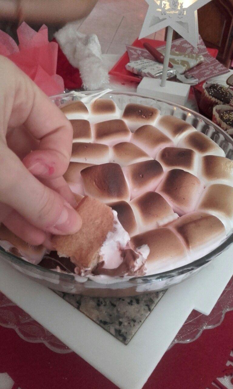 Fondue aux chamallows et chocolat